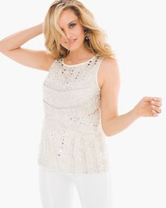 Chico's Women's Embellished Tank
