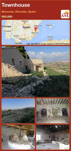 Townhouse for Sale in Monovar, Alicante, Spain with 1 bedroom, 1 bathroom - A Spanish Life Murcia, Valencia, The Bodega, Portugal, Alicante Spain, Amazing Buildings, The Locals, Townhouse, Restoration