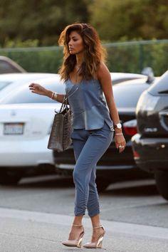 Nicole Scherzinger- casual street style in denim