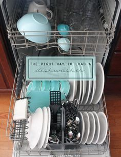 Simple tips to make your dishwasher work for you!  The Right Way to Load a Dishwasher via Clean Mama
