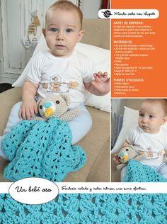 Manta de apego con chupete - Crochet Bebé
