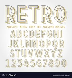 Find Vector Retro Font Shadow Vintage Alphabet stock images in HD and millions of other royalty-free stock photos, illustrations and vectors in the Shutterstock collection. Thousands of new, high-quality pictures added every day. Pretty Fonts Alphabet, Calligraphy Fonts Alphabet, Hand Lettering Fonts, Creative Lettering, Lettering Styles, Monogram Fonts, Typography Fonts, Handwriting Fonts Alphabet, Letter Fonts