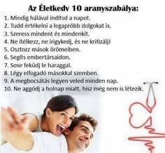 Életkedv 10 aranyszabálya