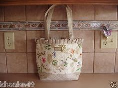 Longaberger botanical fields purse