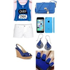 on the blue side of things♡ creds to EMBRY made by EMBRY on polyvore