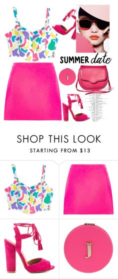 """""""Untitled #428"""" by jovana-p-com ❤ liked on Polyvore featuring Moschino, Versace, Qupid, Miss Selfridge, Rebecca Minkoff, statefair and summerdate"""