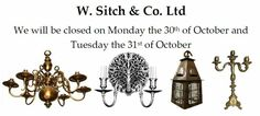 We will be closed on Monday 30th and Tuesday the 31st of October