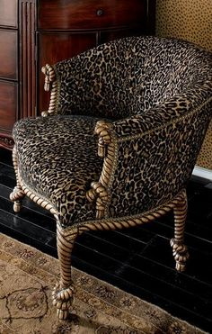 Luxury Leopard print Chair | Luxury Furniture, Modern Furniture, Interior Design, Living Room. For More Furnitures: www.bocadolobo.com/en/products/