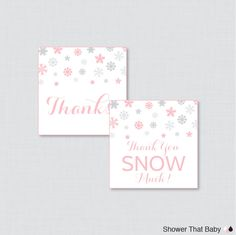 Printable Winter Baby Shower Favor Tags - Winter Wonderland Thank You Tag - Instant Download - Pink Snowflake Thank You Snow Much - 0004-P by ShowerThatBaby on Etsy https://www.etsy.com/listing/206203545/printable-winter-baby-shower-favor-tags