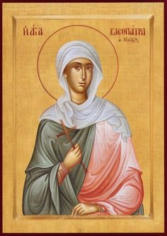 Greek orthodox handmade icon of Saint Cleopatra, Cleopatra the Martyr – orthodoxmonasteryicons.com