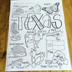 A little Texas Symbol coloring for when we return. This is part of an ABC's of Texas resource I'm working on. Farm Activities, Kindergarten Activities, Preschool Activities, History Classroom, Classroom Themes, Preschool Classroom, Texas History 7th, Texas Independence Day, Texas Crafts
