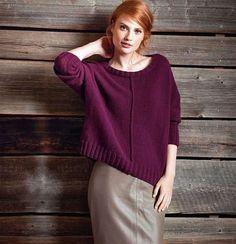 Пуловер с внешними швами