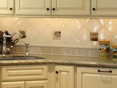 kitchen backsplash with laminate countertops   ... Steel Faucet White Cabinet Granite Countertop Bathroom Backsplash Grey