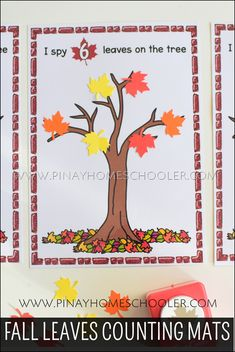 Fall Leaves Counting Activities