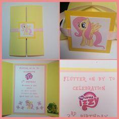 Fluttershy invitation, my little pony invitation