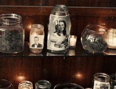 Terrarium Display - A Beautiful Mess Vintage Boutique, Vintage Shops, Glass Jars, Mason Jars, Old Family Photos, Beautiful Mess, Photo Displays, What Is Like, Terrarium