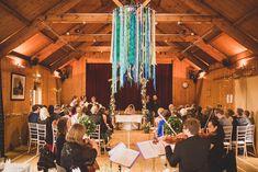 Ribbon Chandelier Cornflower Blue Jade Green Scottish Wedding…