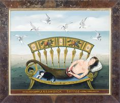 Ralph Cahoon painting - Arrowback Settee - Love this!