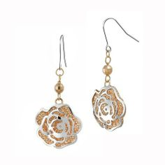 Rose Gold Plated and Sterling Silver Flower Drop French Wire Earrings Amazon Curated Collection. $29.00. Made in Thailand. Save 76% Off!