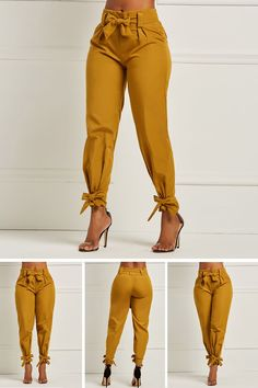 Bowknot plain womens pencil pants summer outfits в 2019 г. Mode Outfits, Chic Outfits, Trendy Outfits, Fall Outfits, Summer Outfits, Vetements Shoes, Mode Kimono, Cute Fashion, Womens Fashion