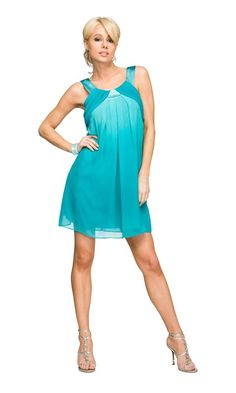 Aquamarine dress.