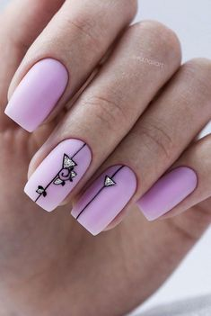 33 Trendy Natural Short Square Nails Design For Spring Nails 2020 - Latest Fashion Trends For Woman - Winter in gone with Spring coming here, summer time is about the corner, it's time to get our nai - Black Gel Nails, Short Gel Nails, Matte Nails, Burgundy Nails, Nude Nails, Stiletto Nails, Oval Nails, Purple Nails, Acrylic Nail Designs