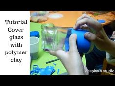 DIY Cover glass / jars with polymer clay -2 tutorials and many tips - YouTube