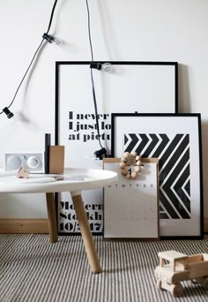 Design Inspiration: Black, White and Grey Office Spaces - Fancy House Road Home Interior, Interior Styling, Interior And Exterior, Interior Decorating, Interior Inspiration, Design Inspiration, Design Ideas, Deco Originale, Piece A Vivre