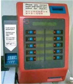 Singapore Bus Ticket machine (1980s-1990s)