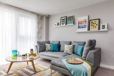 Recent show home project in Manchester, United Kingdom. Featured is our Atlanta Sofa £999.00 ex VAT. In this scheme we used raw wooden finishes and mid century styles help to produce a calming, Nordic aesthetic. We used a muted colour palette as a base, contrasted with vibrant accessories and furniture aimed at attracting attention and guiding viewers through rooms. Visit our website to view the Atlanta www.davidphillips.com