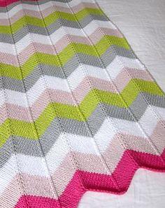 Cheveron Baby Blanket FREE knitting pattern