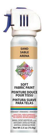 Sand Simply Spray Fabric Paint