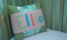 a way easy appliqued pillow for my little girl ellie