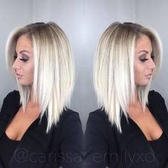 Coupe au carré court : 20 modèles pour vous | Coiffure simple et facile Long Aline Haircut, Long Lob Haircut, Long Bob Haircut With Layers, Angled Bob Haircuts, Aline Haircuts, Angled Haircut, Pretty Hairstyles, Everyday Hairstyles, Long Bob Hairstyles