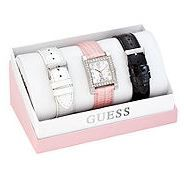 GUESS Sparkling Pink Boxed Watch Set ($115) | 25 Fantastic Products for Breast Cancer Awareness and A Giveaway