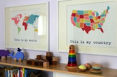 oh the places you will go kids map for room | USA Maps in Kids' Rooms | Kids Room Art | KidSpace Interiors
