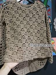 Resultado de imagem para blusas de croche com graficos passo a passo gratis