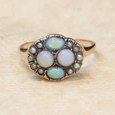 Antique Victorian 14k Rose Gold Opal and Seed door SITFineJewelry, $895,00