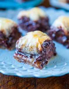 Nutella Chocolate Chip Baklava averiecooks.com