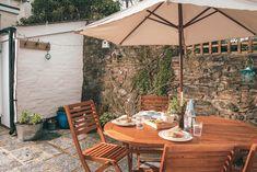 Fabulous sun trap, prefect for alfresco dining Al Fresco Dining, Cornwall, Cottage, Patio, Sun, Garden, Outdoor Decor, Home Decor, Decoration Home