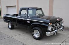 1966 Black Ford F100 #truckin