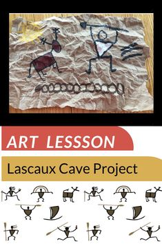 Stone Age Cave Paintings, Lascaux Cave Paintings, Art Lessons For Kids, Art For Kids, Stone Age Art, Cave Drawings, Human Art, Painting For Kids, Teaching Art