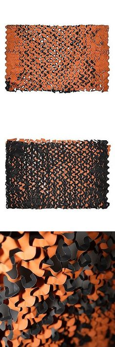 Camouflage Materials 177911: Orange And Black Party Camouflage Net, 10Ft X 5Ft, Fire Retardant Camo Net -> BUY IT NOW ONLY: $47.79 on eBay!