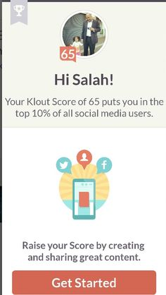 my score at klout went up