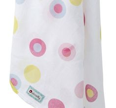 Piccalilly muslin swaddle detail - bubble spot - Baby Gift Works