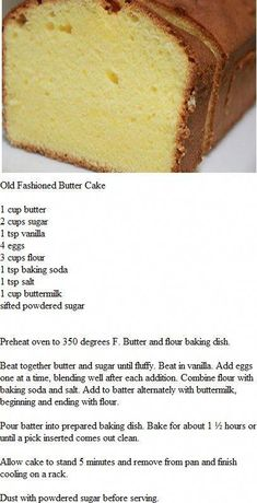 This is the BEST PoundCake! It's an easy homemade pound cake recipe you'll love. You won't believe how simple this pound cake loaf is to make. There's one secret ingredient to make it rich and moist. Get the recipe on The Worktop. Just Desserts, Delicious Desserts, Yummy Food, Lemon Desserts, Baking Recipes, Cookie Recipes, Dessert Recipes, Pie Dessert, Meal Recipes