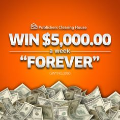 "On February 27th, we'll award $5,000 A Week ""Forever!"" Have you entered yet?"
