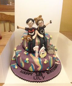 So proud of the cake we made for my friend X Dan and Phil cake