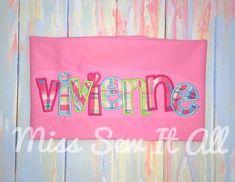 Custom Appliqued Name Pillowcase, Custom Pillowcase, Name Pillowcases Check Mail, Applique Pillows, Custom Pillow Cases, Farm Birthday, Pillowcases, First Names, Mardi Gras, Kids Bedroom, Monogram