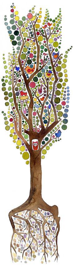 pokój dziecka - naklejki ścienne-Naklejka drzewo dla p.Doroty